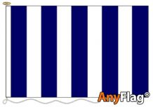 NAVY BLUE AND WHITE STRIPED ANYFLAG RANGE - VARIOUS SIZES